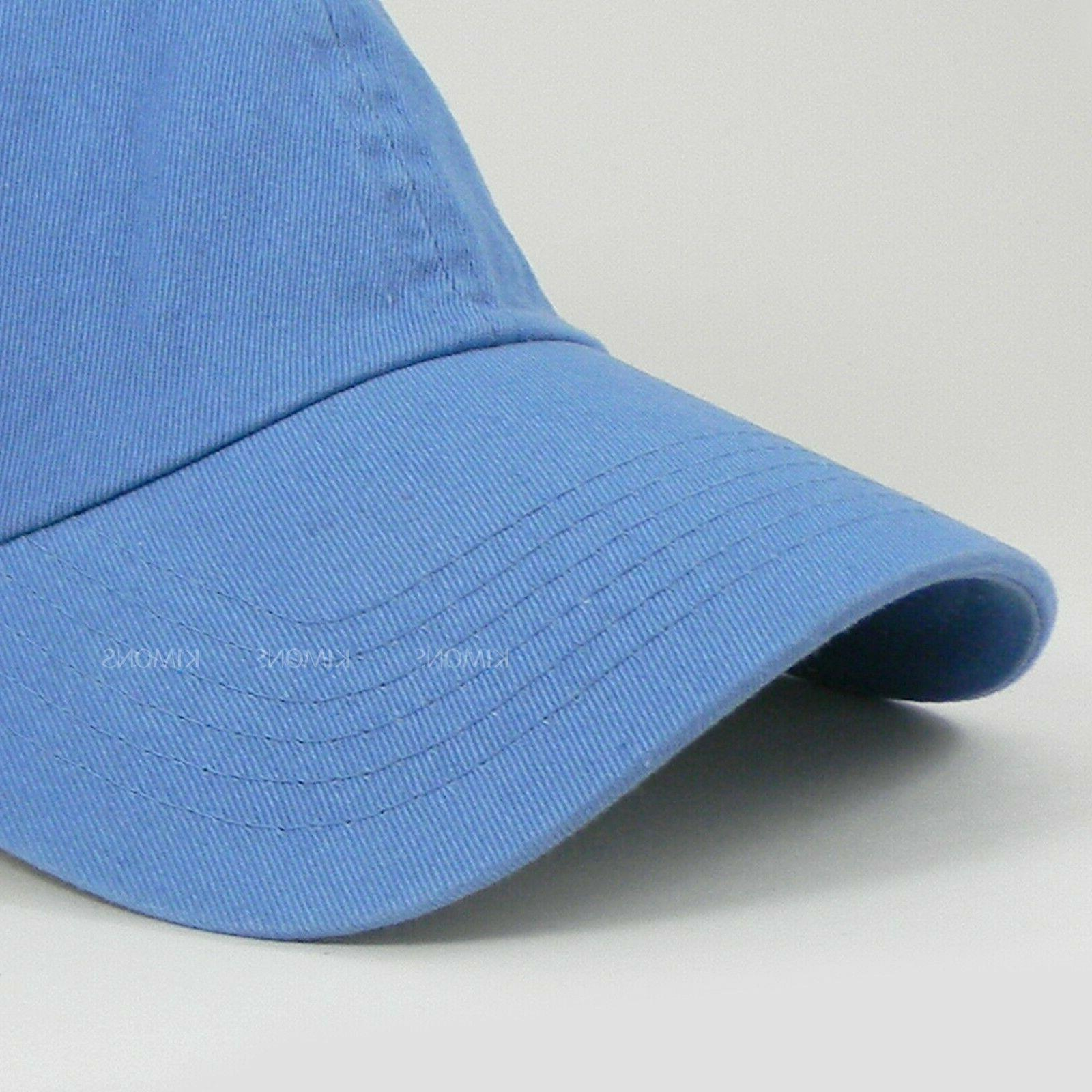 Baseball Cotton Solid Plain men Ball Hat Washed
