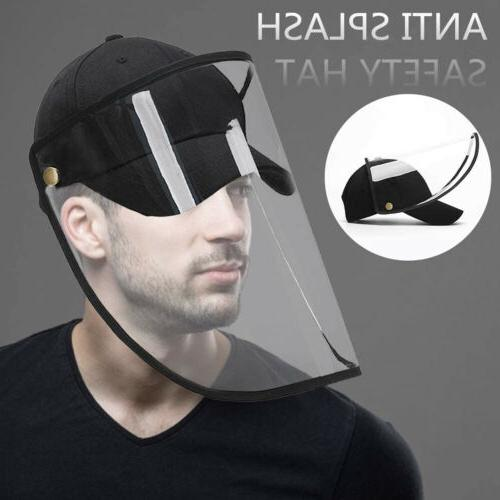 baseball cap with removable clear protective cover