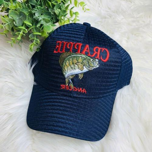 baseball hat cap blue crappie angler fish