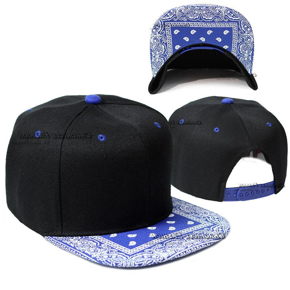 Bandana Baseball Paisley Snapback Hip Plain Hats