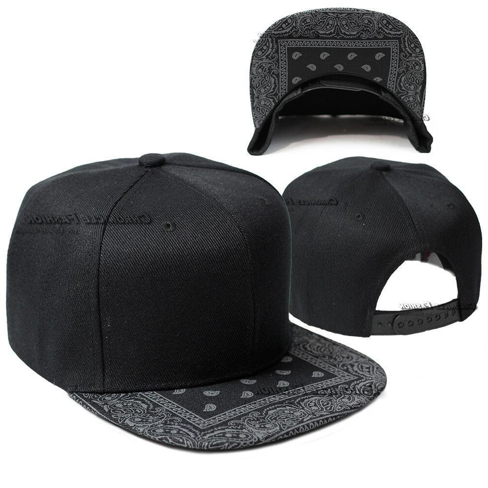 Bandana Cap Snapback Hip Plain Men Hats