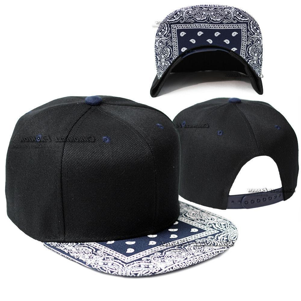 Bandana Snapback Hip Plain Men Hats