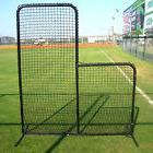 L Screen Baseball Batting Practice Heavy Duty Net & Frame #4