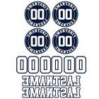 Baseball Softball Customized Bat Decal Set - Helmet Numbers