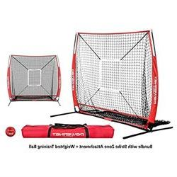 PowerNet Baseball and Softball Practice Net 5 x 5 (Bundle wi