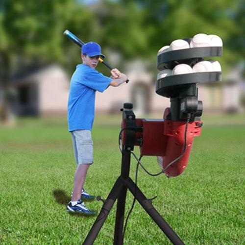 HEATER SPORTS BaseHit Baseball Pitching Machine Kids, Teens, Pitching Real Includes Automatic Ballfeeder