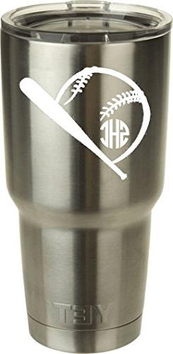Bat And Baseball DECAL ONLY for a 30 oz Tumbler