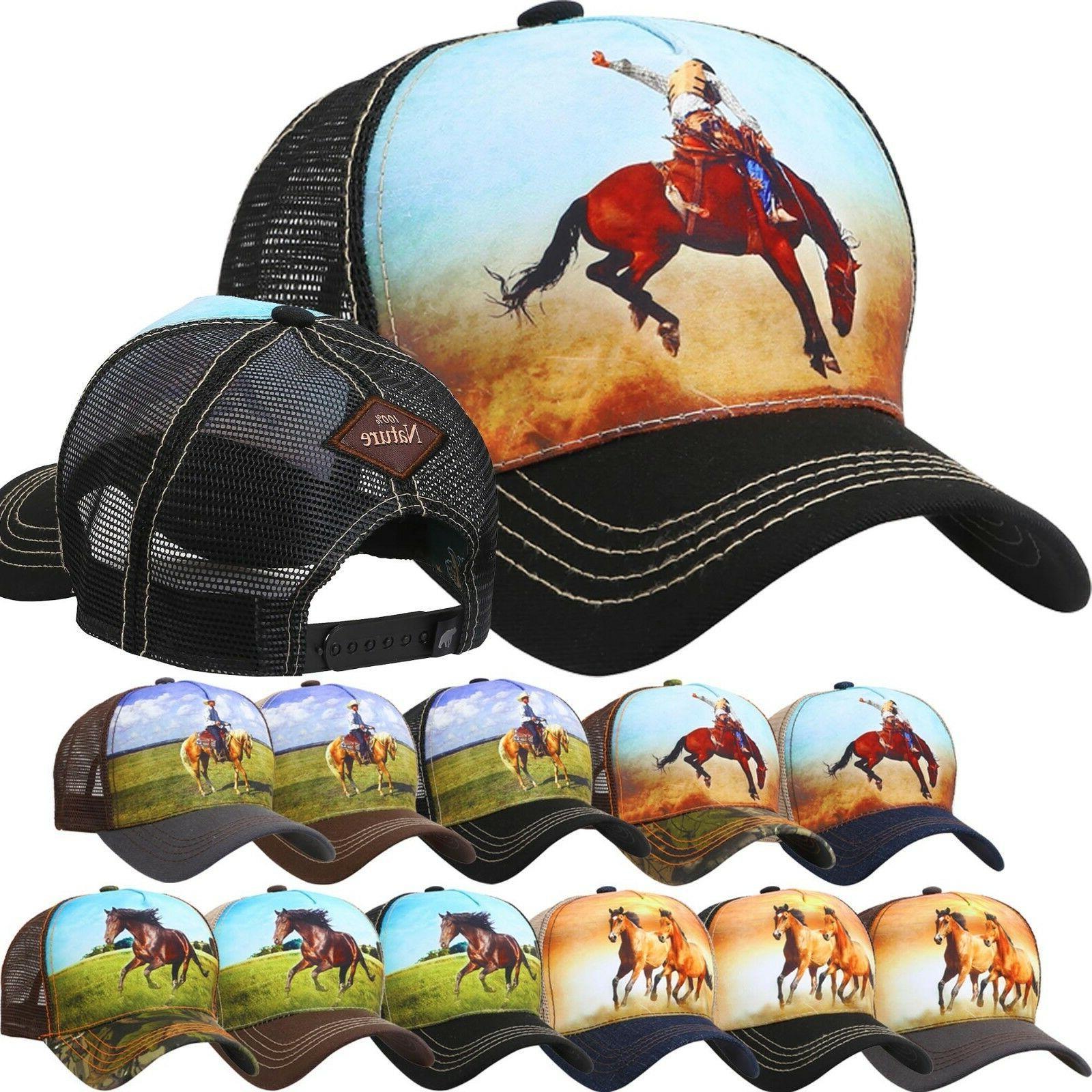 bb trucker hat animal farm horse baseball