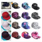 Fashion Men Women Bboy Hip-Hop Visor Flat Hat Snapback Baseb