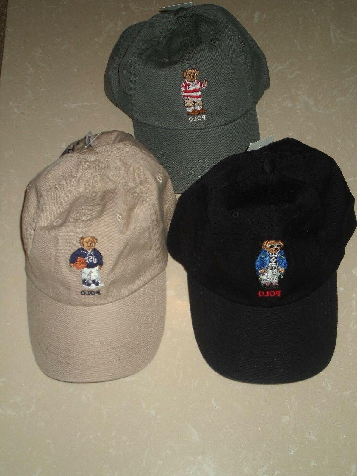 POLO LAUREN LOGO CAP HAT
