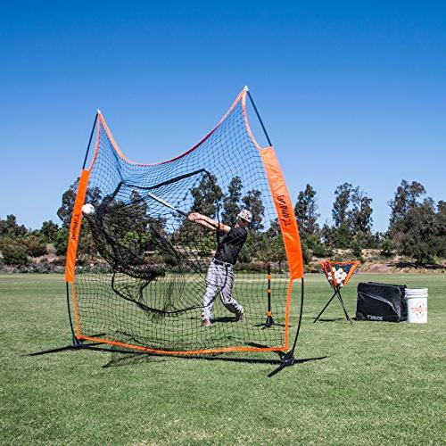 Bownet x 7' Big Mouth Portable Baseball and Pitching