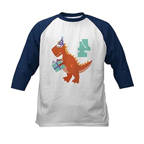 birthday dinosaur baseball jersey