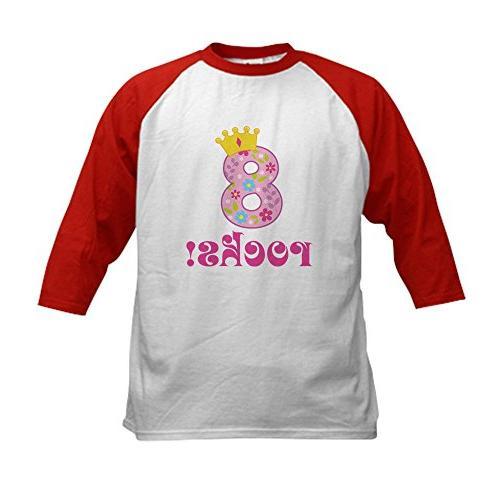 birthday princess crown baseball jersey