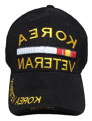 Black Veteran Ribbon Cap