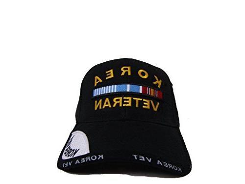 Black Korean War Veteran Shadow Hat Cap W2-01-D