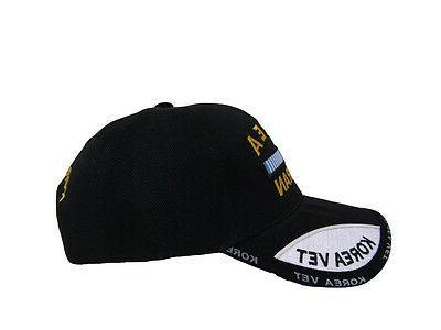 Black Korea Korean War Veteran Vet Hat Cap 3D RAM