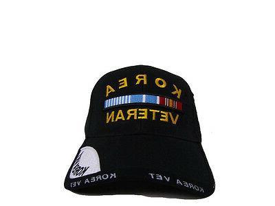 Black Korea Korean Veteran Vet Shadow Baseball Hat Cap 3D RAM