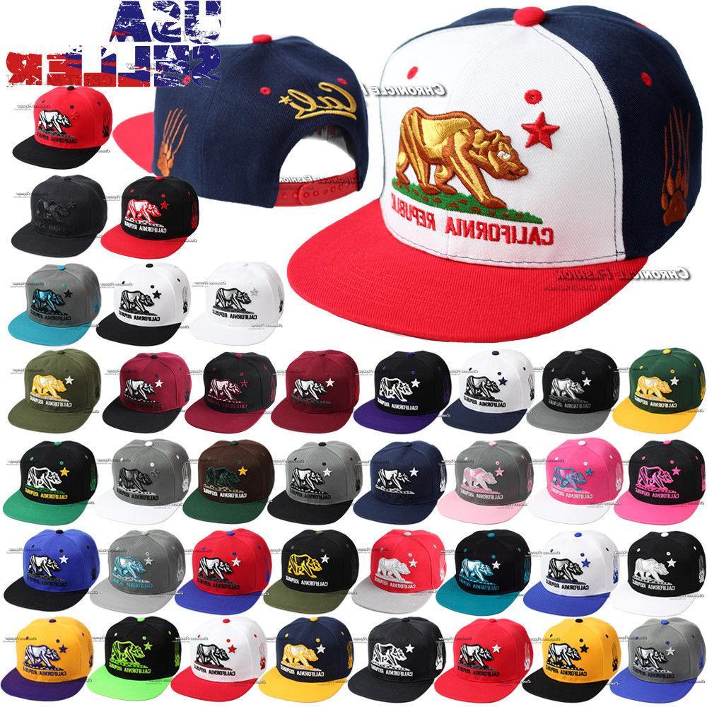 California Republic CALI Bear Baseball Hat Embroidered Snapb