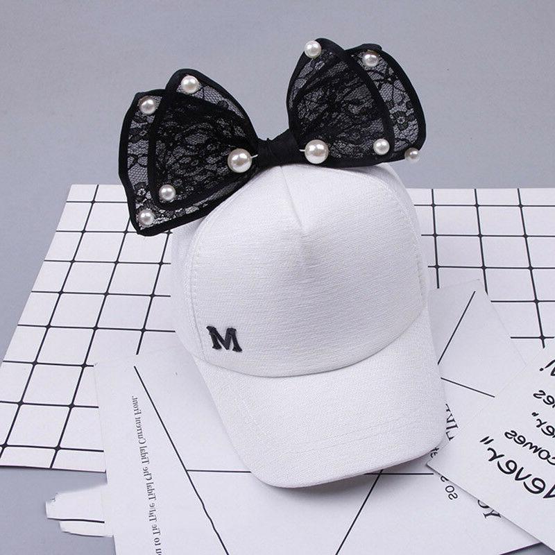 Children Cap Girls Snapback Ear Bow Sun Hat