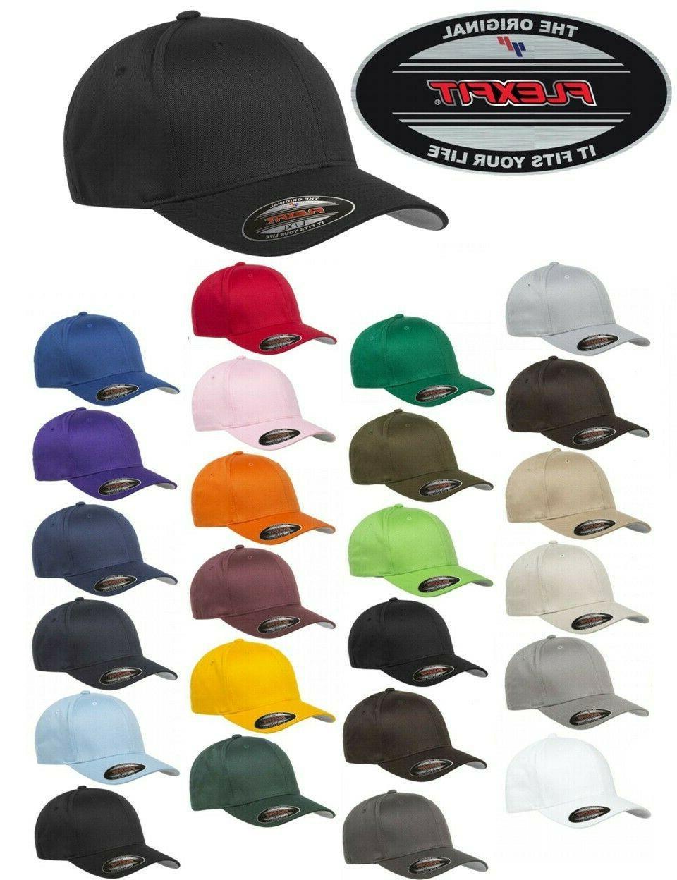 FLEXFIT Classic 6-Panel Twill Cap HAT S/M L/XL New!