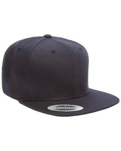 YUPOONG Classic SNAPBACK Cap FLAT BILL Hat New!