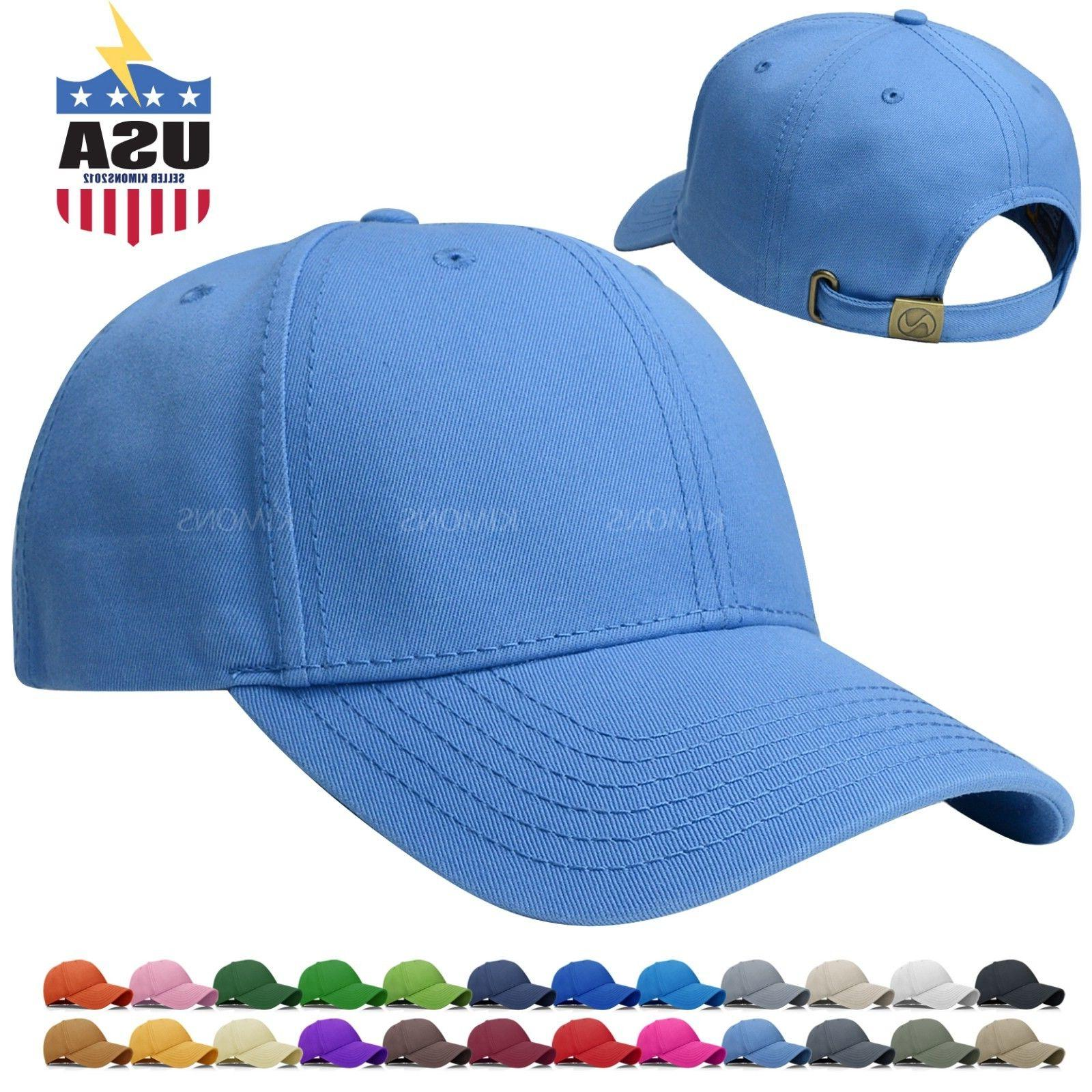 Constructed Baseball Cap Hat Cotton Adjustable Polo Style Pl