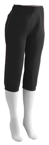 Augusta Sportswear Ladies Contrast Color Pant, Black/Black,