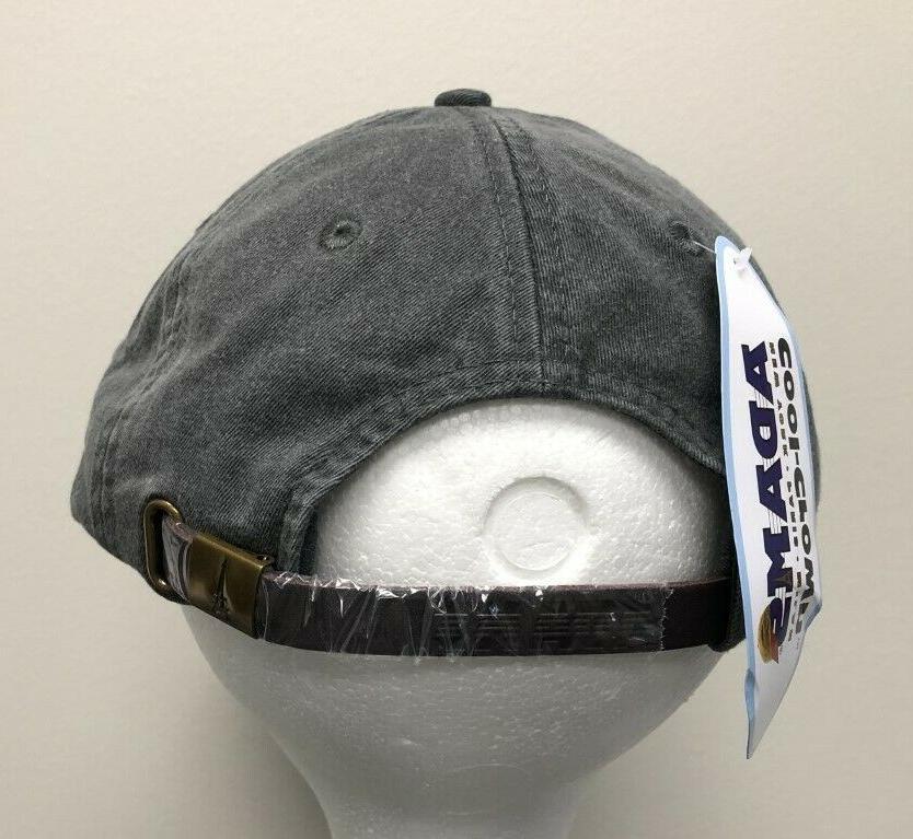 ADAMS Gray Baseball Hat Cap Strapback NEW