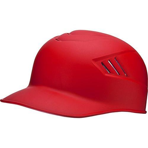 Rawlings Alpha Sized Base Coach Helmet, Scarlet, Medium