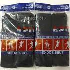 12 Pairs New Black Mens Cotton Athletic Sports Crew Tube Soc