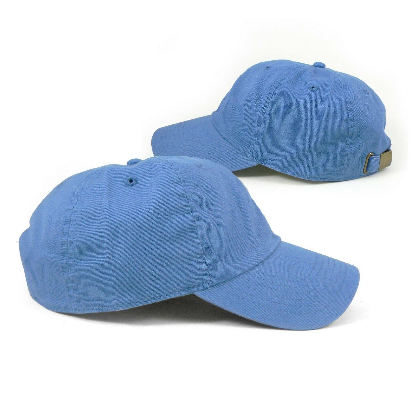 Cotton Cap Caps Hat Polo Washed Plain Dad