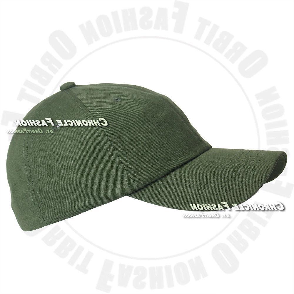 Baseball Cap Washed Cotton Hat Adjustable Solid Hats