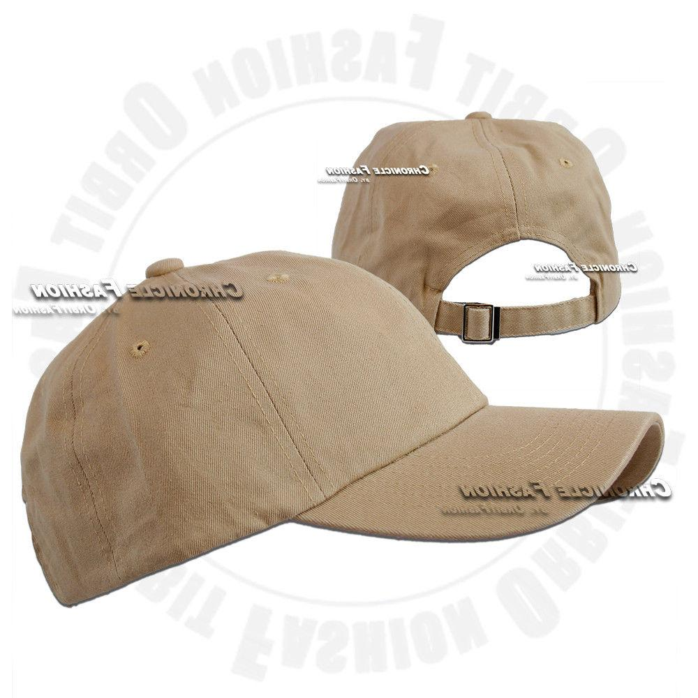 Baseball Cap Washed Hat Polo Solid Plain Men