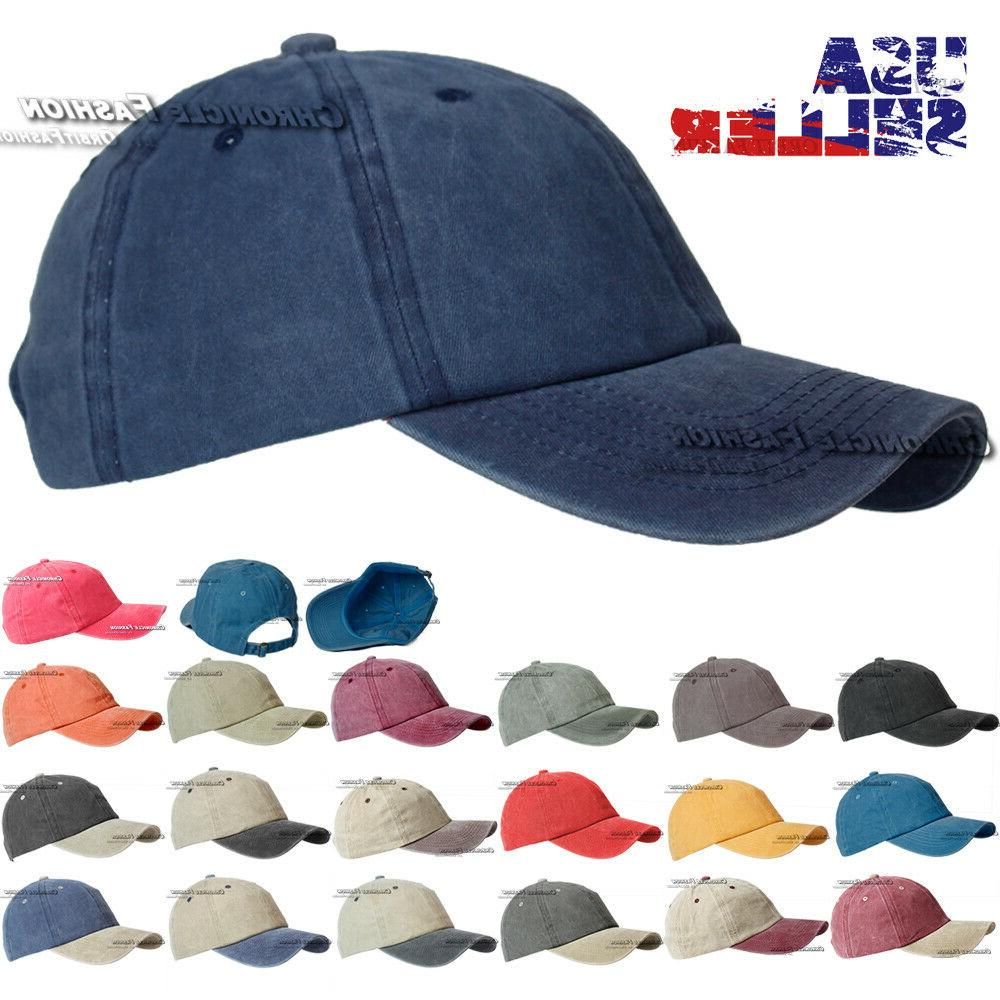 cotton hat baseball cap washed style plain
