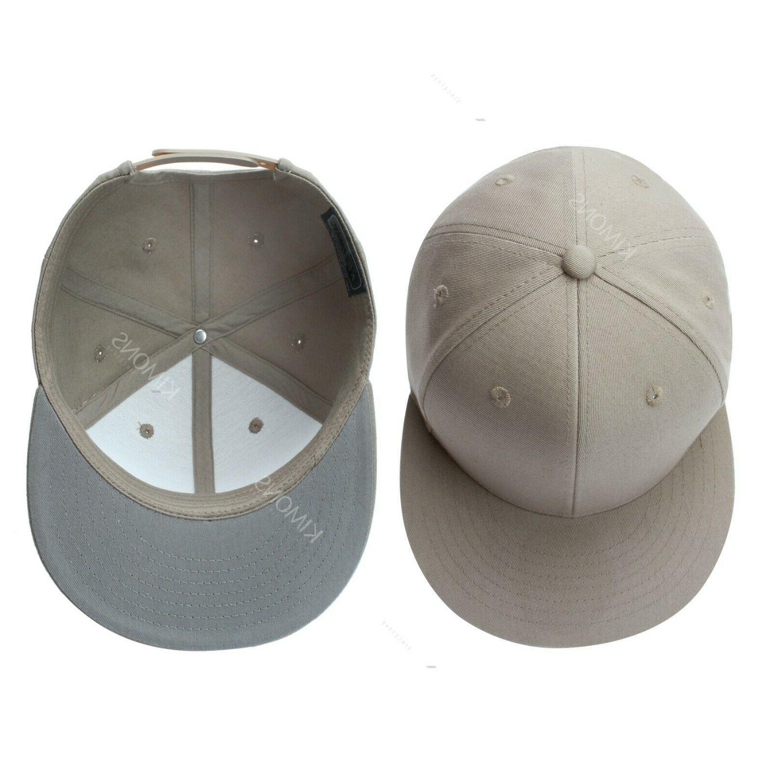 Snapback Baseball Hats Flat Mens Military Blank
