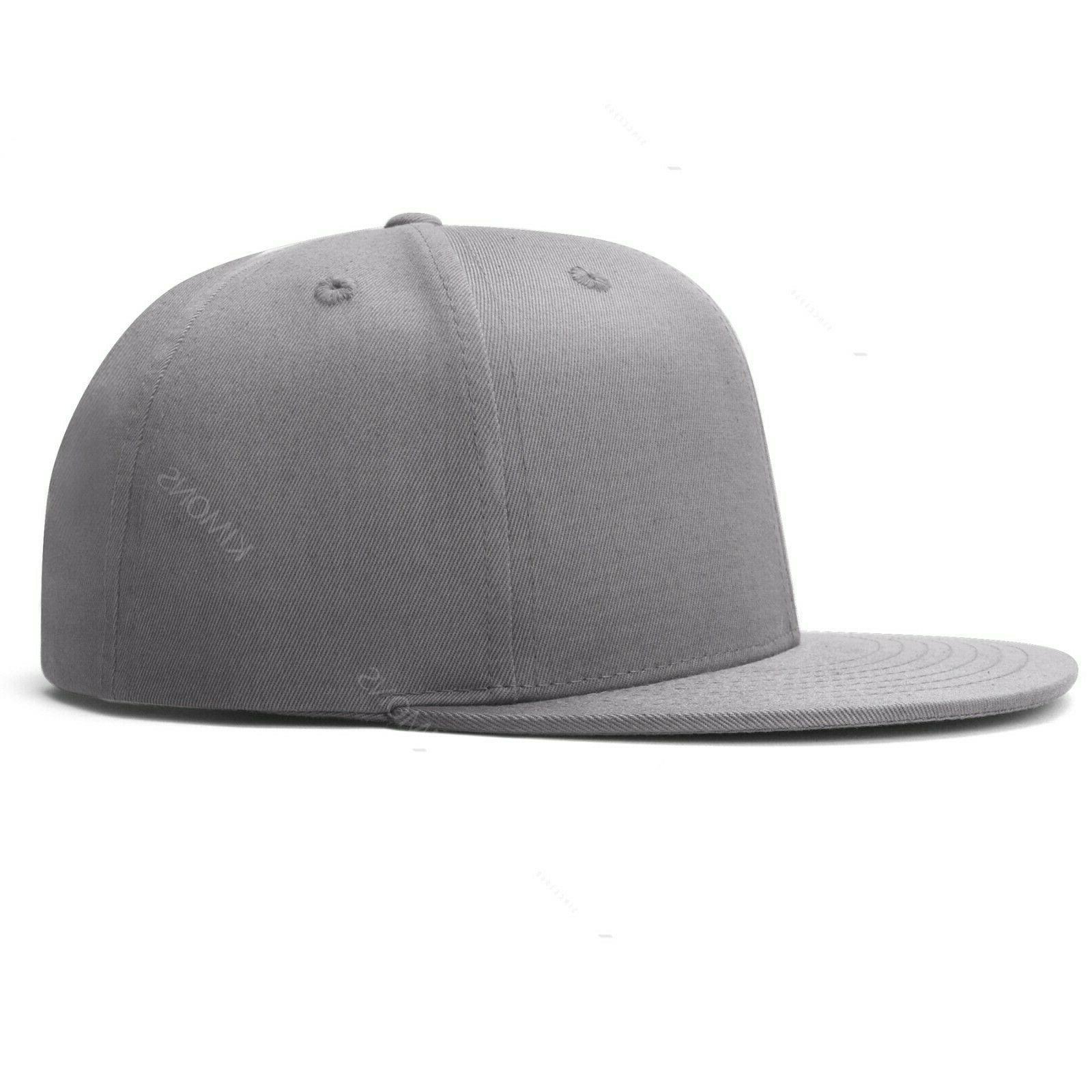 Snapback Hat Hip Hop Baseball Cap Hats Flat Mens Two