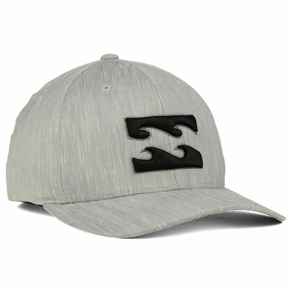 Billabong All Day Flex-Fit Cap/Hat MAHTAALL Silver Heather/B