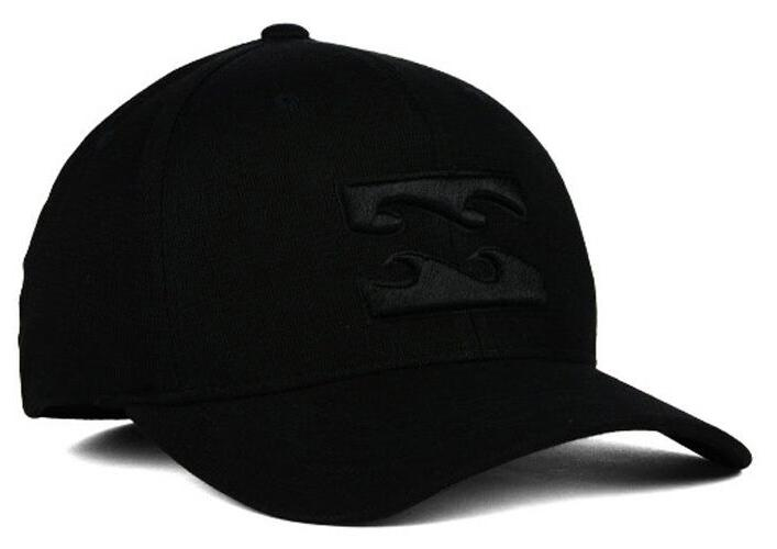 Billabong All Day Flex-Fit Cap/Hat MAHTAALL Black/Black