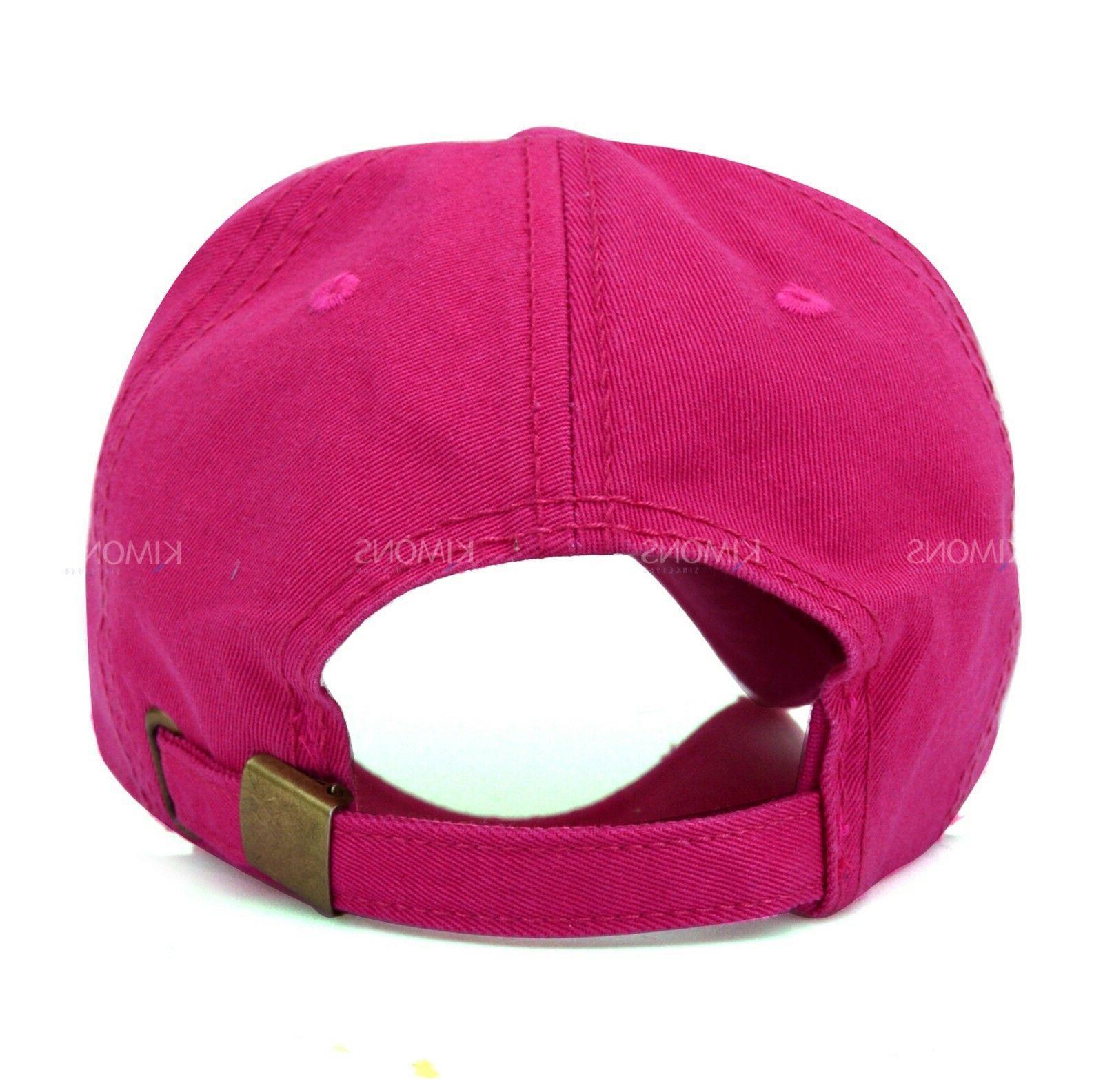 Distressed Baseball Ball Cap Hat Solid Blank Women