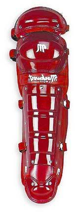 """19"""" Adult Size Pro Double Knee Cap Leg Guards with Wings fro"""