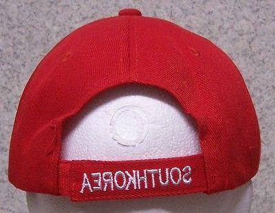 Embroidered Baseball Cap South Korea 1 hat fits