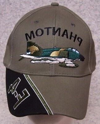 embroidered baseball cap military airplane f 4