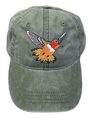 embroidered new mexico wildlife rufous hummingbird baseball