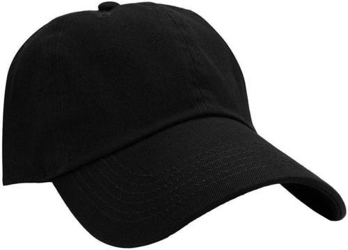 Falari Baseball Cap Hat 100% Cotton Adjustable Size Black. 1