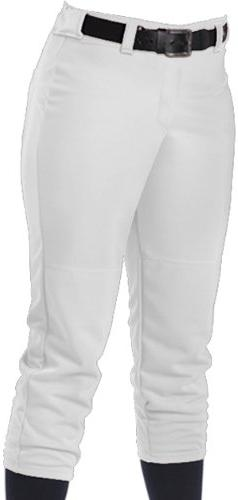 Alleson Girl's Fastpitch Pants - White - Large