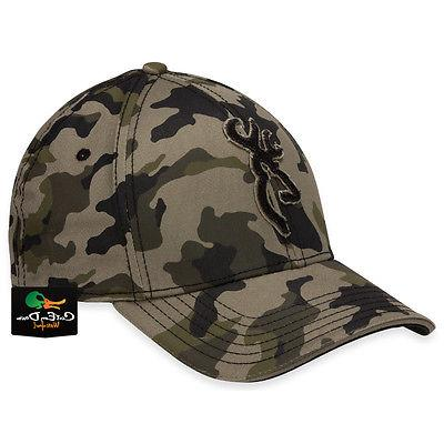 NEW BROWNING STALKER CAMO FLEX FIT HAT FITTED BALL CAP BUCKM