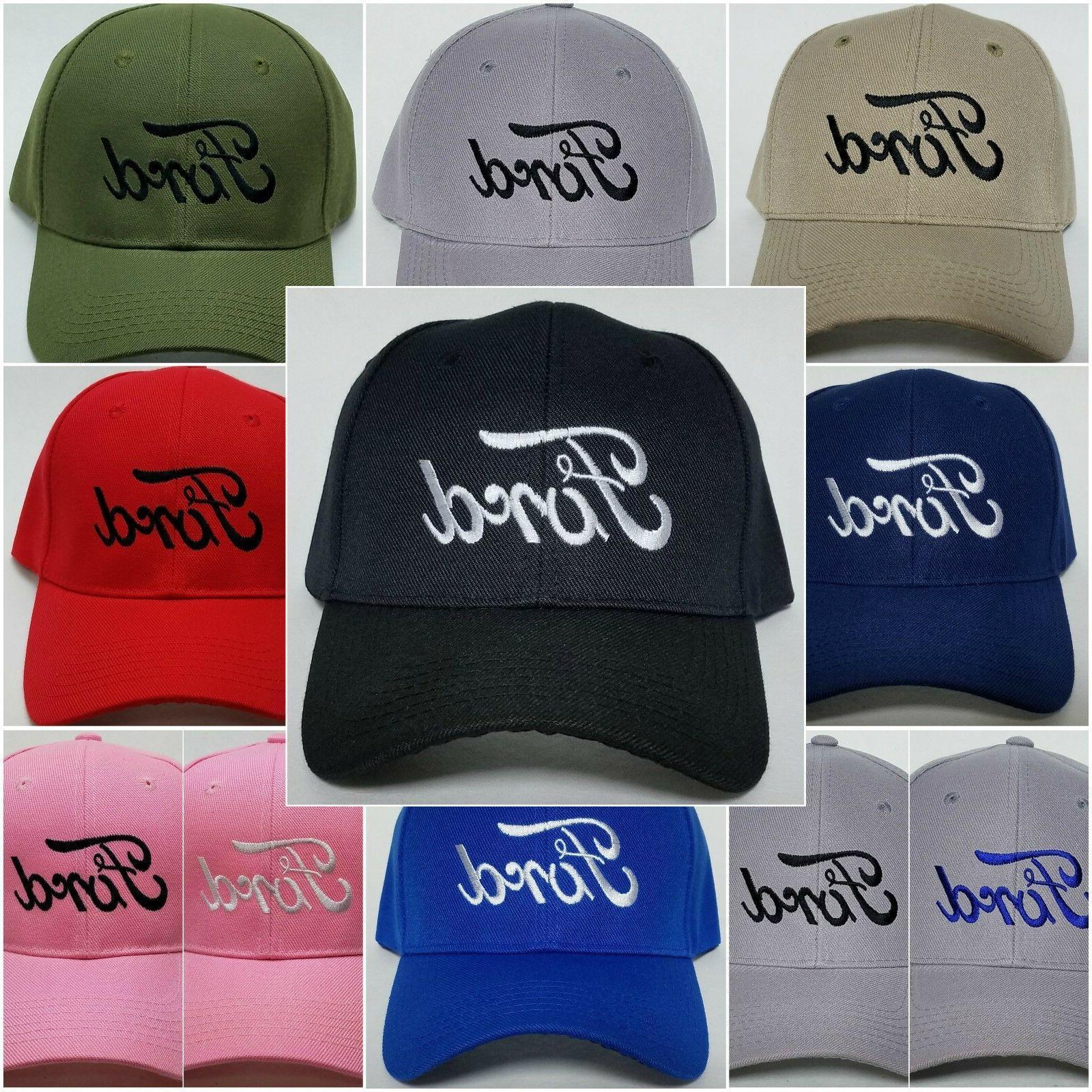 ford embroidered baseball hat cap adjustable strap
