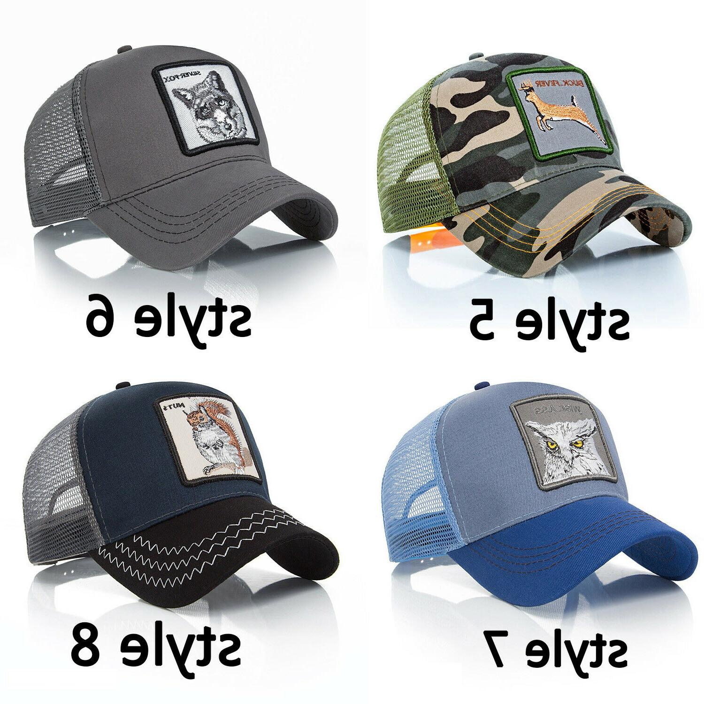 (Free Baseball Cap Animal Adjustable Sport Hat