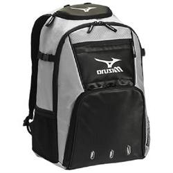 2017 Mizuno 360226 Organizer G4 Silver/Black Backpack Batpac