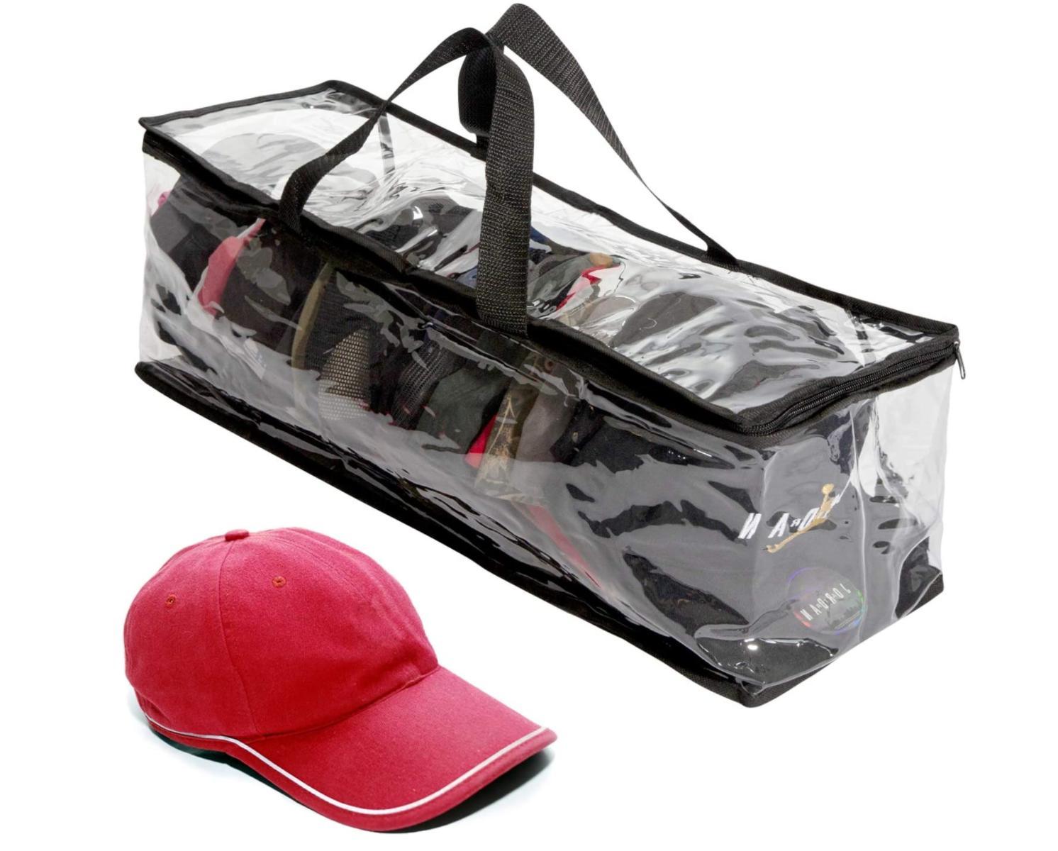 Hat Storage Bag Case Baseball Cap Travel Zipper Holder